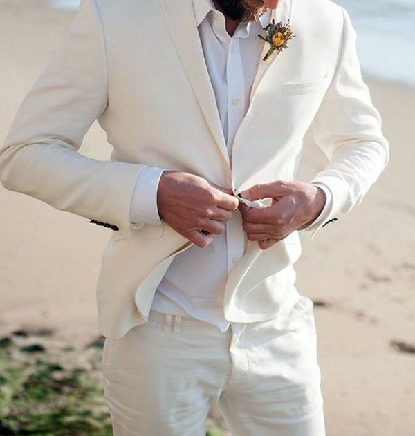 Picture of Cream classic fit two-piece suit
