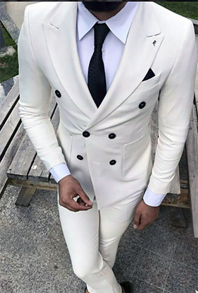 Picture of White two-piece suit