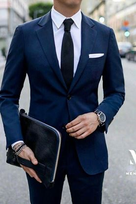 Picture of Navy Single Breasted Two-piece Suit